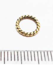 Twisted ring 8mm Tibetan gold x 35
